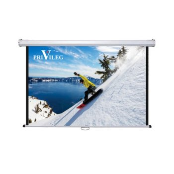 "Екран Privileg Classic DMW300, за стена/таван, 3000 x 1690 мм, 136"" (345.44 cm), 16:9 image"