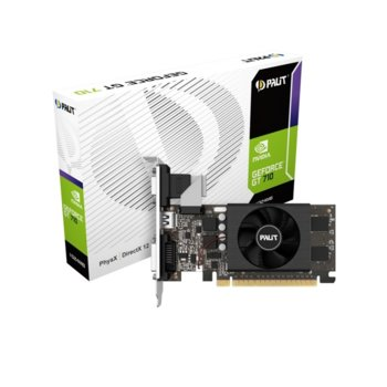 Видео карта Nvidia GeForce GT 710, 1GB, MSI GAMING, PCI-E 3.0, GDDR5, 64bit, HDMI, VGA, DVI image