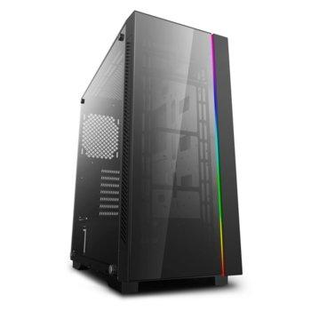 Кутия Deep Cool MATREXX 55 V3 ADD-RGB, E-ATX/ATX/mATX/Mini-ITX, 1x USB 3.0, страничен прозорец, черна, без захранване image