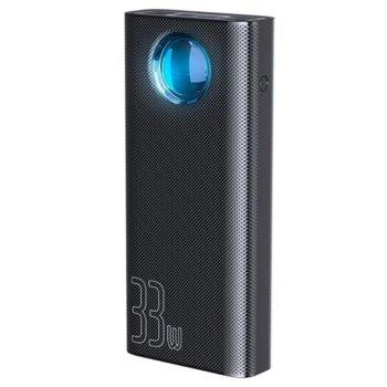 Външна батерия /power bank/ Baseus Amblight, 30 000 mAh, черна, USB Type-C(PD 3.0), 4x USB Type-A(1x QC), 1x Lightning, LED дисплей image