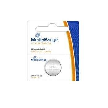Батерии литиеви MediaRange Coin Cells MRBAT135 CR1616, 3V, 50mAh, 1бр. image