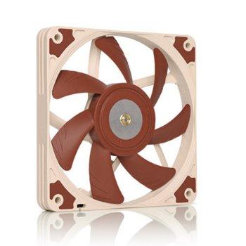 Вентилатор 120mm, Noctua NF-A12x15-FLX, 3-pin, 1850 rpm, кафяв image