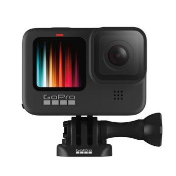 Екшън камера GoPro HERO9 Black, камера за екстремен спорт, 5K@30fps, HyperSmooth 3.0 стабилизация, гласов контрол, водоустойчив, 8x Slow motion, Bluetooth, GPS, черен image