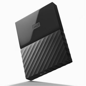 """Твърд диск 4TB Western Digital MyPassport, външен, 2.5""""(6.35cm), USB 3.0, черен image"""