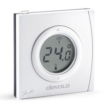 Термостат Devolo 09811, изравнява разликата между температурата на радиатора и тази в стаята, лесен и централизиран контрол на температурата в стаята, Z-Wave безжичен стандарт, бял image