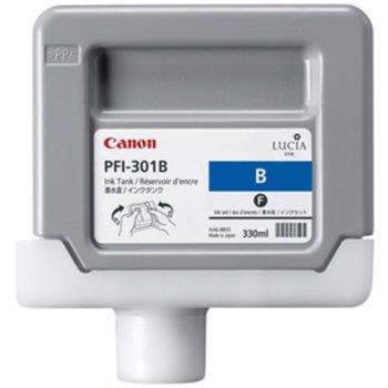 Мастило за Canon PF8000 and iPF9000 - Blue - 1494B001 - Ink Tank PFI-301 - 330ml image