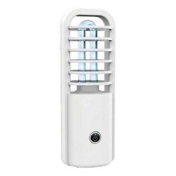 Ултравиолетова бактерицидна лампа с озон UVC-86, 2.5W, 800mAh батерия, 10000H живот на лампата, бяла image