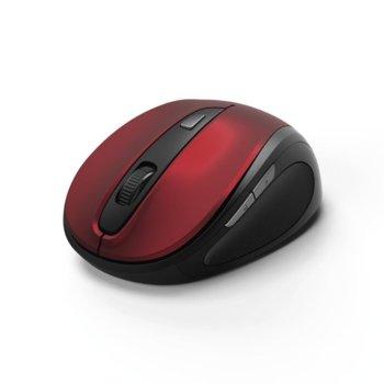 Mишка Hama MW-400, безжична, оптична(1600dpi), USB, червена image