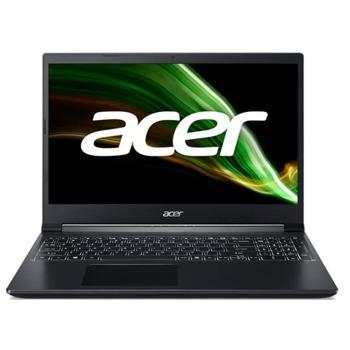 "Лаптоп Acer Aspire 7 A715-42G (NH.QE5EX.002-16GB), осемядрен AMD Ryzen 7 5700U 1.8/4.3GHz, 15.6"" (39.62 cm) Full HD LED LCD Anti-Glare Display & GF RTX 3050 4GB, (HDMI), 8GB DDR4, 512GB SSD, 1x USB 3.1 Type-C, No OS image"