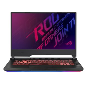 "Лаптоп Asus ROG STRIX G G531GU-AL012 (90NR01J3-M08950), шестядрен Coffee Lake Intel Core i7-9750H 2.6/4.5 GHz, 15.6"" (39.62 cm) Full HD Anti-Glare Display & GTX 1660Ti 6GB, (DP), 16GB DDR4, 512GB SSD, 1x USB 3.2 Type C, No OS image"