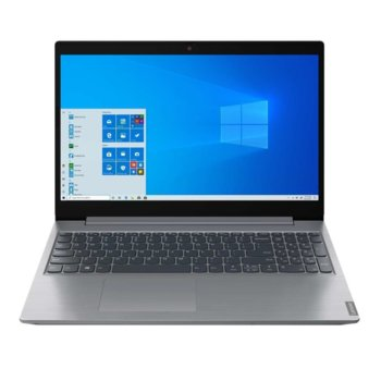 "Лаптоп Lenovo ideapad L3 15IML05 (81Y300MBRM)(сив), двуядрен Comet Lake Intel Celeron 5205U 1.90 GHz, 15.6"" (39.62 cm) Full HD Display (HDMI), 4GB DDR4, 256GB SSD, 1x USB 3.1 (Type-C), Free DOS, 2.2kg image"