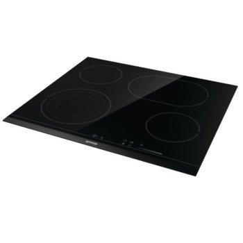 Стъклокерамичен плот за вграждане Gorenje ECS646BCSC, 4 нагревателни зони, HiLight, FishZone, сензорно управление, черен image