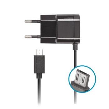 Зарядно устройствo Forever IT5962, от контакт към microUSB, 5V/1A, черно image