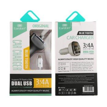 FM Трансмитер Earldom M11, Bluetooth, USB, 3.4A, различни цветове image