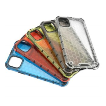 Калъф за Apple iPhone 11, хибриден, 4Smarts HEXAGON 4S467520, удароустойчив, червен image