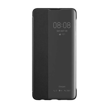 Kалъф за Huawei P30, еко кожа, Huawei Smart View Flip cover 51992860, черен image