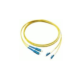 Оптичен пач кабел, LC/UPC(м) към SC/UPC(м), 9/125, сингъл мод, 1m image