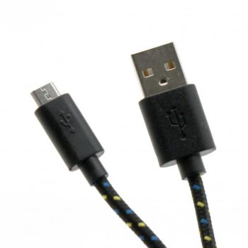 Кабел SBOX CP01-04-002B, от USB A(м) към USB Micro B(м), 1m, черен image