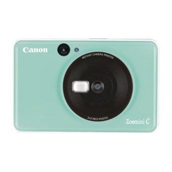 """Фотоапарат Canon Zoemini C (зелен), за моментни снимки, 5MP, макс. размер на снимки 2.0"""" x 3.0"""", светкавица, , Micro SD карта image"""
