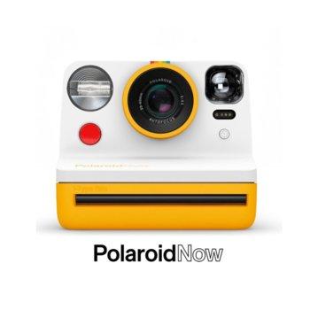 Фотоапарат Polaroid Now (жълт), моментални снимки, светкавица, с батерия, auto-focus, USB image
