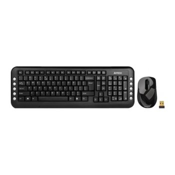 Комплект клавиатура и мишка A4Tech V-Track 7200N, безжични, компактен USB приемник image