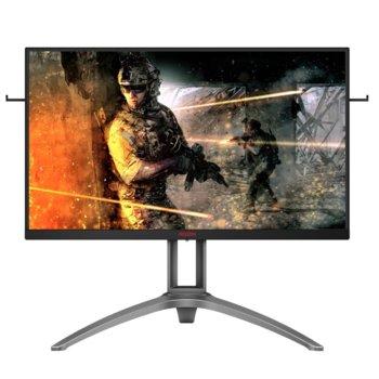 """Монитор AOC AG273QZ, 27"""" (68.58 cm) TN панел, 240Hz, QHD, 0.5 ms, 80M:1, 400 cd/m2, DisplayPort, HDMI, Headphone out image"""