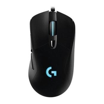 Мишка Logitech G403 HERO, оптична (16 000 DPI), подсветка, 6 програмируеми бутона, USB, черна image