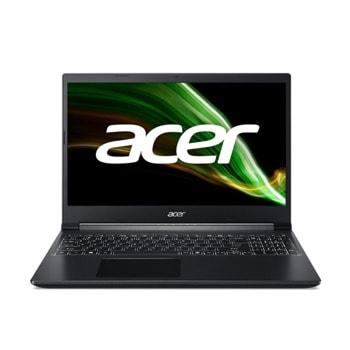 "Лаптоп Acer Aspire 7 A715-42G (NH.QE5EX.004), шестядрен AMD Ryzen 5 5500U 2.1/4.0GHz, 15.6"" (39.62 cm) Full HD LED LCD 144Hz Anti-Glare Display & GF RTX 3050 4GB, (HDMI), 8GB DDR4, 512GB SSD, 1x USB 3.1 Type-C, No OS image"