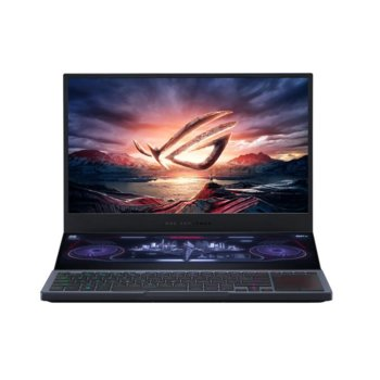 "Лаптоп ASUS ROG Zephyrus Duo 15 GX550LXS-HC060T (90NR02Z1-M01980), осемядрен Comet Lake Intel Core i9-10980HK 2.4/5.30 GHz, 15.6"" (39.62 cm) 4K/UHD IPS Display & RTX 2080 8GB, (HDMI), 1x USB 3.2 Gen 2 Type C, Windows 10 Home image"