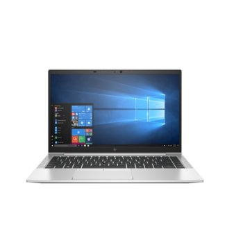 "Лаптоп HP EliteBook 840 G7 (8PZ97AV_32882044)(сребрист), четириядрен Comet Lake Intel Core i7-10510U 1.8/4.9 GHz, 14.0"" (35.56 cm) Full HD IPS 400 nits Anti-Glare Display, (HDMI), 16GB DDR4, 1TB SSD, 2x USB 3.1 Type-C, Windows 10 Pro image"