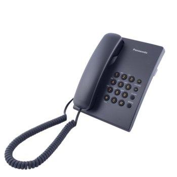 Стационарен телефон Panasonic KX-TS500, 1 линия, черен image