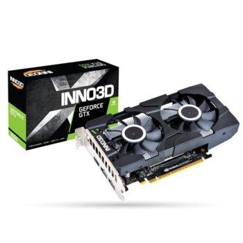 Видео карта Nvidia GeForce GTX 1650, 4GB, Inno3D GeForce GTX 1650 Twin X2 OC, PCI-E 3.0, GDDR5, 128bit, DisplayPort, HDMI image