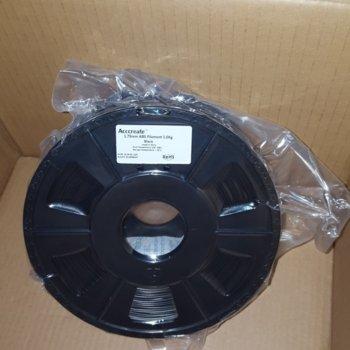 Консуматив за 3D принтер Acccreate, ABS filament, 1.75mm, черен, 1kg image