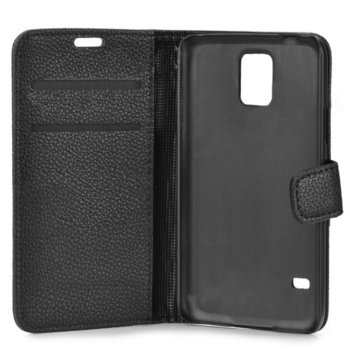 Wallet Flip Case for Samsung Galaxy S5 SM-G900 blk product