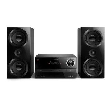 Аудио система Philips Micro BTM3360, 2.0, 150W, Bluetooth, CD, CD-R/RW, MP3-CD, USB, черна image