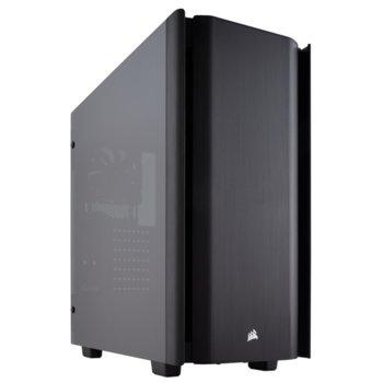 Кутия Corsair Obsidian Series 500D Premium (CC-9011116-WW), ATX, 2x USB 3.1, 1x USB Type-C, 2x 3.5mm жак, прозорец, черна, без захранване image