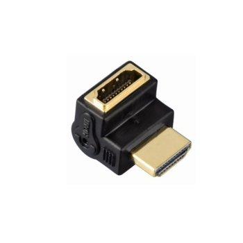 Преходник Hama 83010 HDMI(м) към HDMI(м), позлатени конектори, ъглов image
