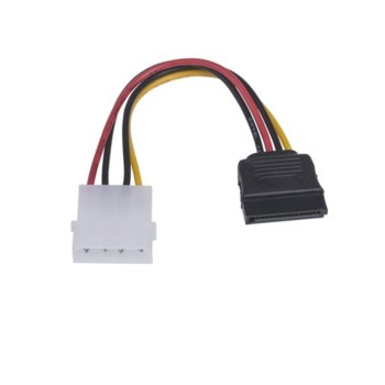 Захранващ кабел Lanberg, molex (м) към SATA (ж), 15cm (50 бр.) image