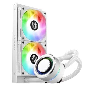 Водно охлаждане за процесор Lian Li GALAHAD AIO 240 RGB White, съвместимост със сокети LGA 1200/1150/1151/1155/1156/1366/2011/2066/775 & AMD AM4 image