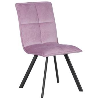 Трапезен стол Carmen 516, до 100кг. макс. тегло, дамаска, метална база, лилав image