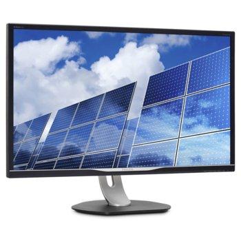 """Монитор Philips 328B6QJEB, 32"""" (81.28 cm) IPS панел, Quad HD, 5ms, 50000000:1, 250 cd/m2, DisplayPort, HDMI, DVI-D, VGA, USB image"""