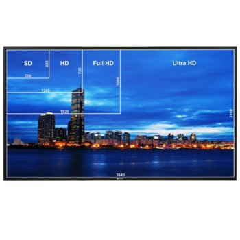 "Публичен дисплей AG NEOVO QD-84, 84""(213.36 cm), 4K UHD, IPS LED, VGA, HDMI, DVI-D, DisplayPort, USB, RS232, CVBS, RCA, LAN image"