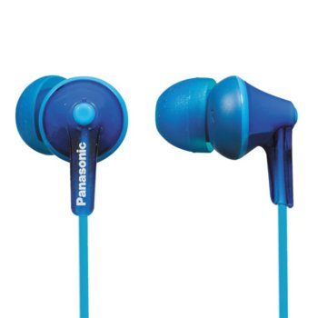 """Слушалки Panasonic RP-HJE125E, тип """"тапи"""", сини image"""