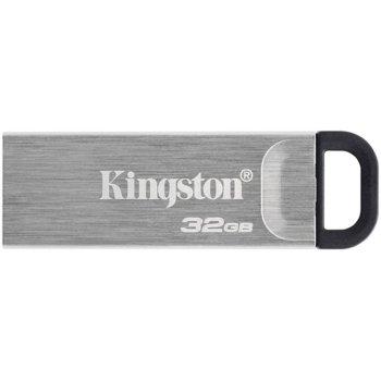 Памет 32GB USB Flash Drive, Kingston Kyson DTKN/32GB, USB 3.2 Gen 1, сребриста image
