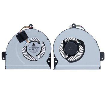 Вентилатор за лаптоп Asus, съвместим Asus X53S A43 K53S A53S K53SJ K43 X43 X43S X43SC (4 кабела) image