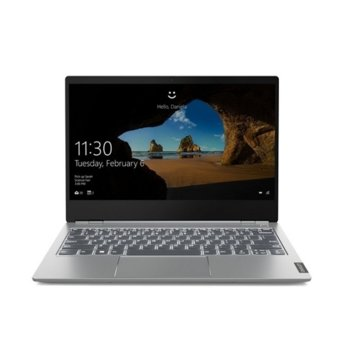 "Лаптоп Lenovo ThinkBook 13s (20RR0007BM/2)(сив), четириядрен Comet Lake Intel Core i5-10210U 1.6/4.2 GHz, 13.3"" (33.78 cm) Full HD IPS Anti-Glare Display, (HDMI), 8GB DDR4, 256GB SSD, 1x USB 3.1 Type C, Windows 10 Pro image"