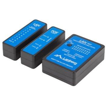 Тестер за кабели Lanberg NT-0404, за RJ11/RJ12/RJ45/258A/TIA 568A/568B кабели image