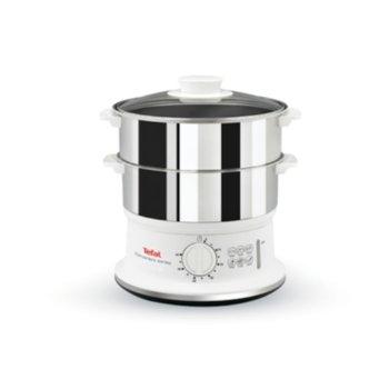 Уред за готвене на пара Tefal VC145130, вместимост 6 л., таймер, бял image