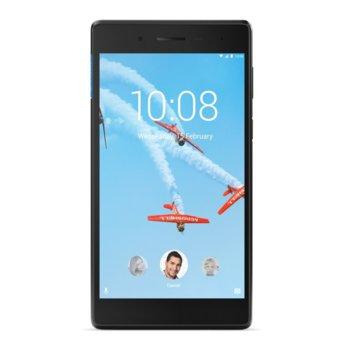 "Таблет Lenovo TAB 7 Essential (ZA330082BG)(черен), LTE, 7.0""(17.78 cm) WSVGA IPS дисплей, четириядрен Mediatek 1.1GHz, 1GB RAM, 16GB Flash памет (+ microSD слот), 2.0 & 2.0 Mpix камера, Android, 254g image"