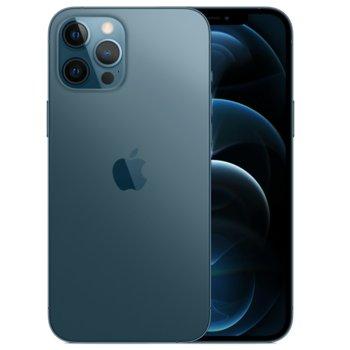 """Смартфон Apple iPhone 12 Pro (Pacific Blue), 6.1"""" (15.49 cm) Super Retina XDR OLED дисплей, шестядрен A14 Bionic, 6GB RAM, 512GB Flash памет, 12.0 + 12.0 + 12.0 & 12.0 MPix камера, iOS 14, 189 g image"""